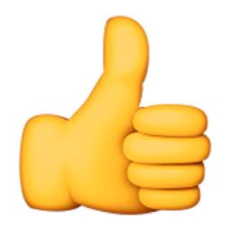 Thumbs up emoji transparent  transparent