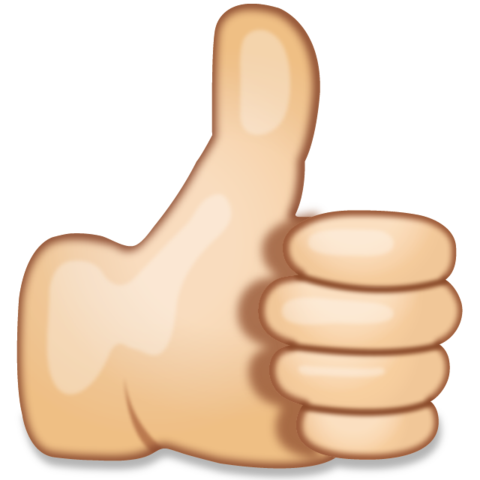 Thumbs up emoji vector royalty free stock Download Thumbs Up Hand Sign Emoji   Emoji Island vector royalty free stock