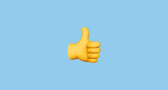 Thumbs up emoji banner  banner
