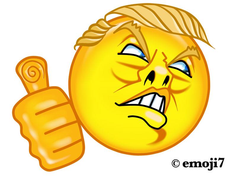 Thumbs up emoji jpg free Thumbs up】 Trump Emoji   Emoji7 jpg free