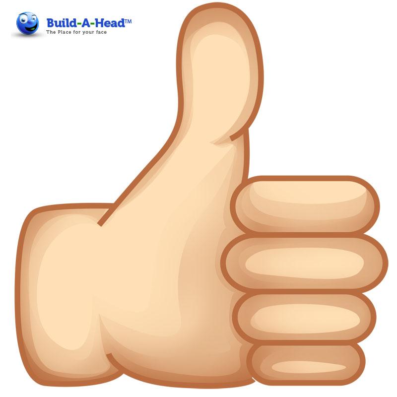 Thumbs up emoji image free library Oversized Thumbs Up Cutout Emoji by Build-A-Head image free library