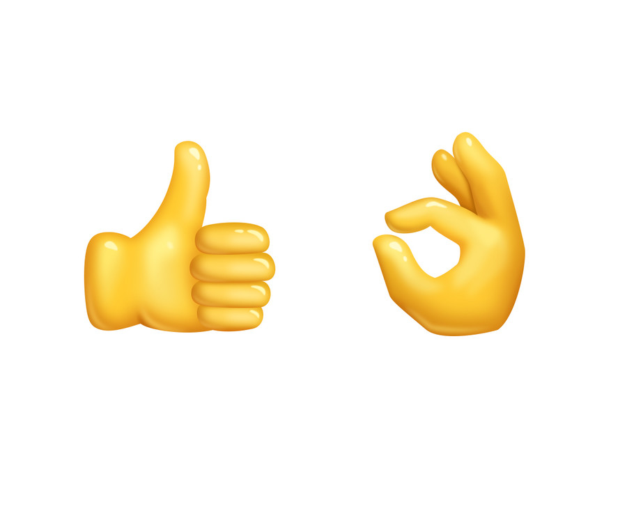 Thumbs up emoji graphic library Illustrate OK hand and thumbs up emoji   Freelancer graphic library