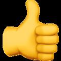Thumbs up emoji vector stock  vector stock