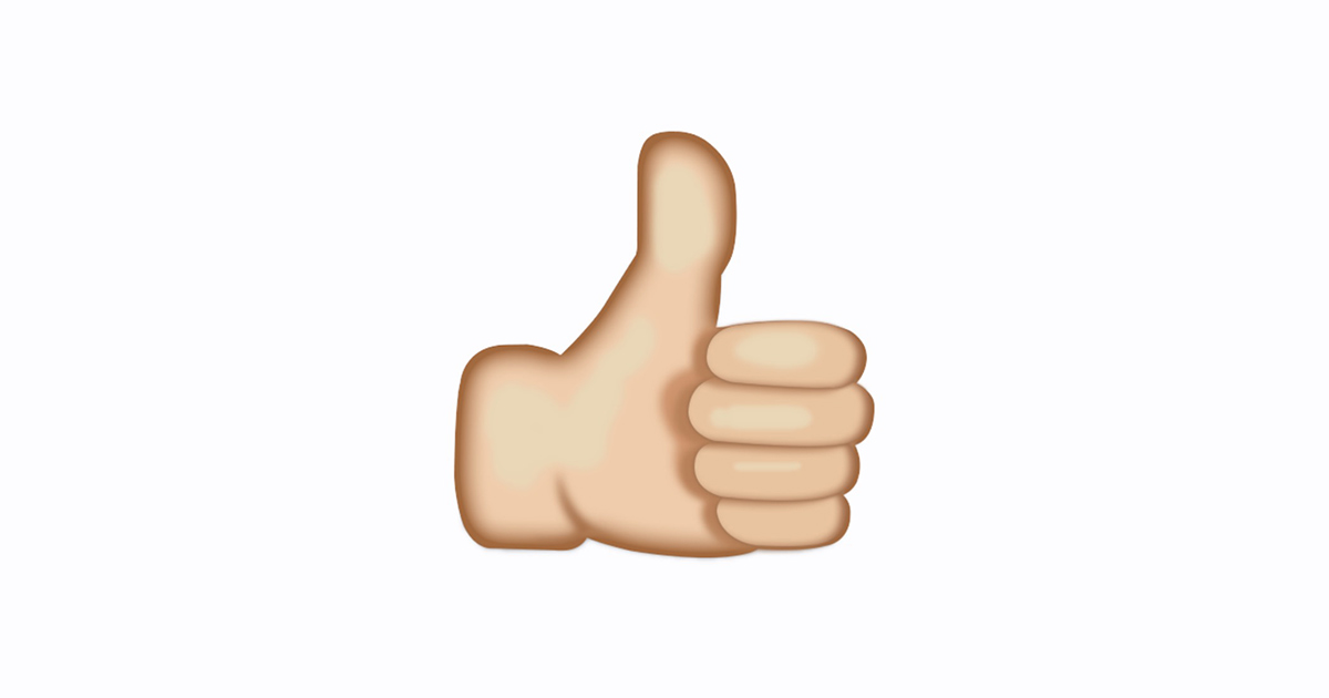 Thumbs up emoji clip freeuse library What's the meaning of a thumbs up emoji? clip freeuse library