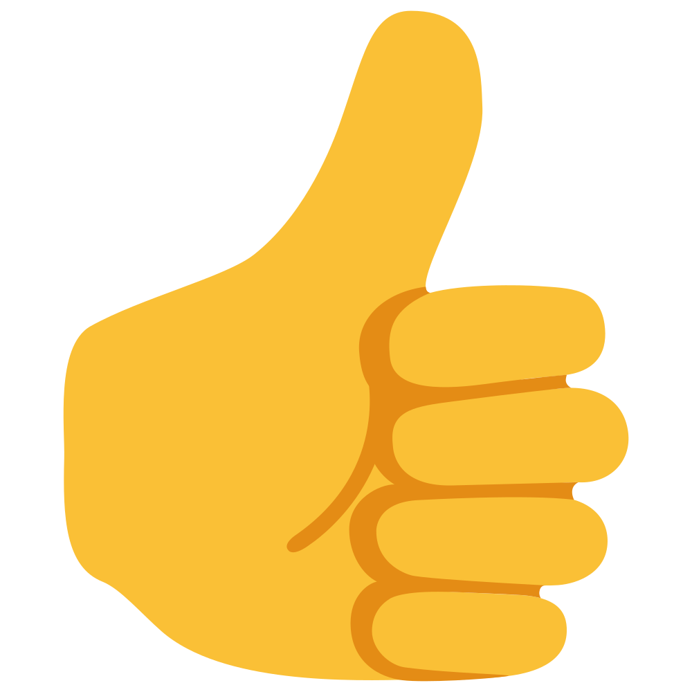 Thumbs up emoji clipart svg library download Thumbs Up Emoji Yellow Skin svg library download