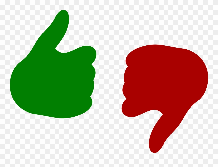 Thumbs up or down clipart