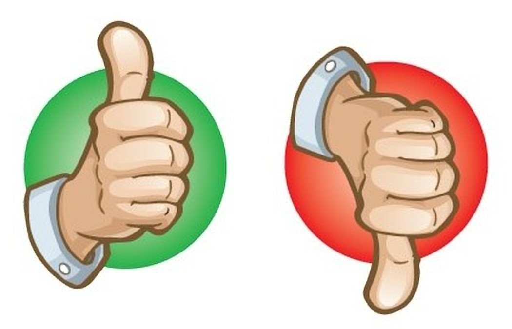 Thumbs up or down clipart vector library The Thumbs Are Back! Thumbs Up/Thumbs Down: October 17, 2018 ... vector library