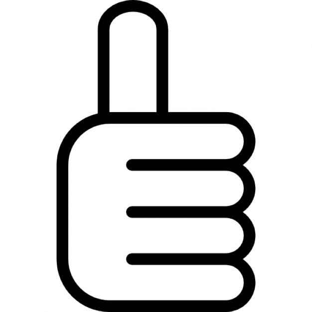 Thumbs up outline clipart royalty free Thumb up outline symbol Icons | Free Download royalty free