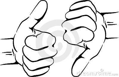 Thumbs up outline clipart vector library download Thumbs Up And Down Stock Images - Image: 10477854 vector library download