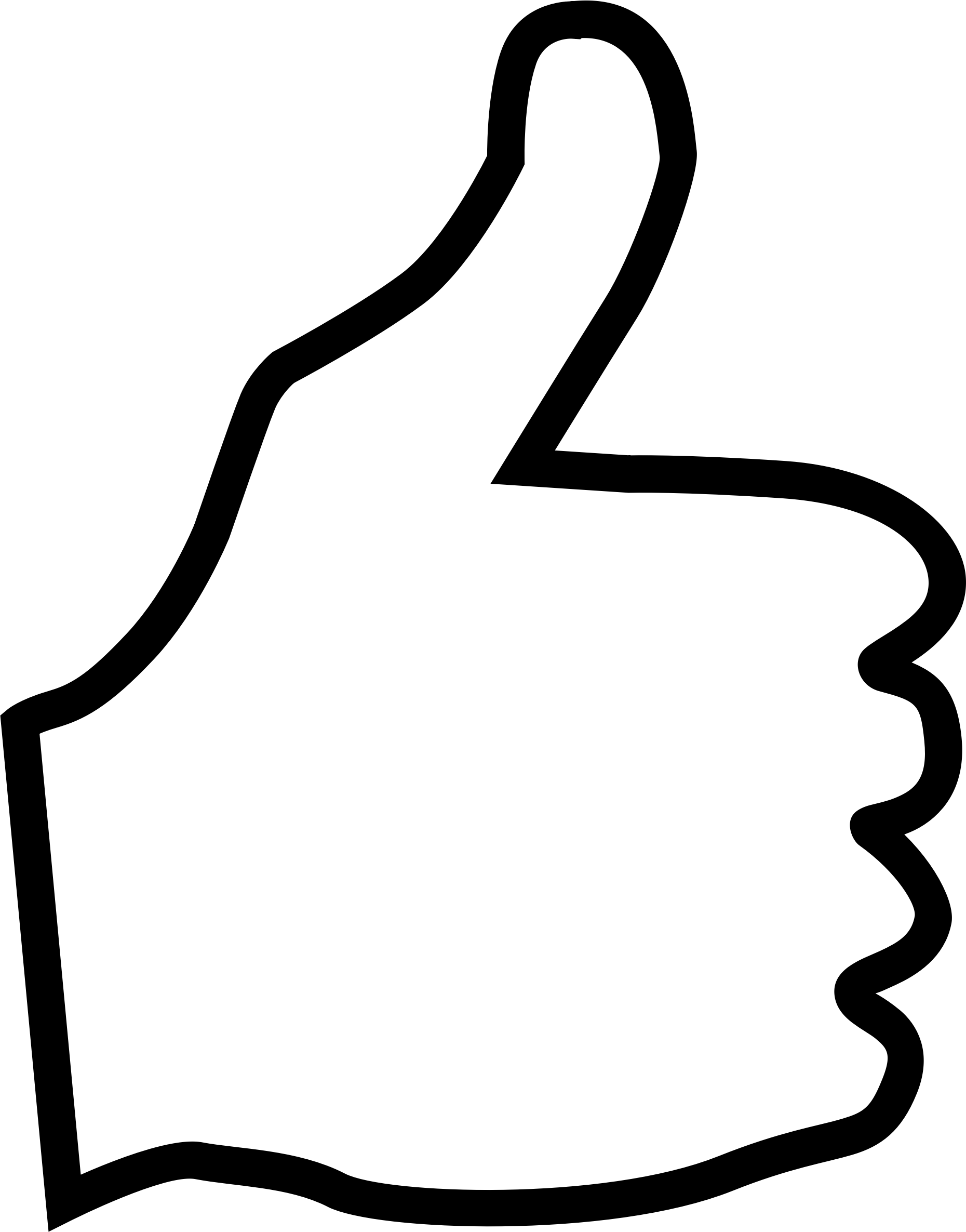 Thumbs up outline clipart banner free library Thumbs up outline clipart - ClipartFest banner free library