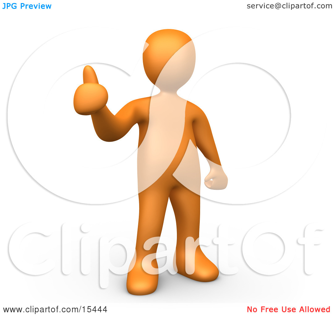 Thumbs up person clipart jpg free library Orange Person Giving the Thumbs up Clipart Illustration Image by ... jpg free library