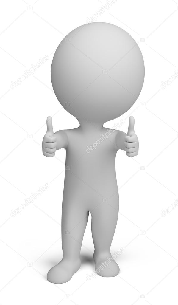 Thumbs up person clipart png royalty free download 3d small - double thumbs up — Stock Photo © AnatolyM #8541943 png royalty free download
