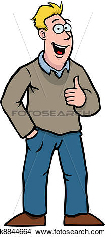 Thumbs up person clipart picture black and white stock Clipart of Man with thumbs up k8844664 - Search Clip Art ... picture black and white stock