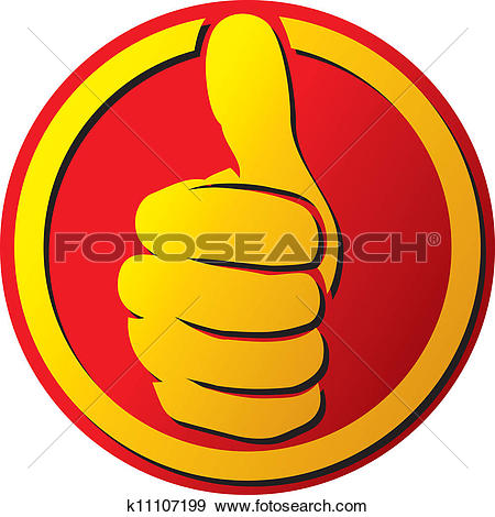 Thumbs up sign clipart jpg stock Clip Art of human okay hand sign k15785016 - Search Clipart ... jpg stock