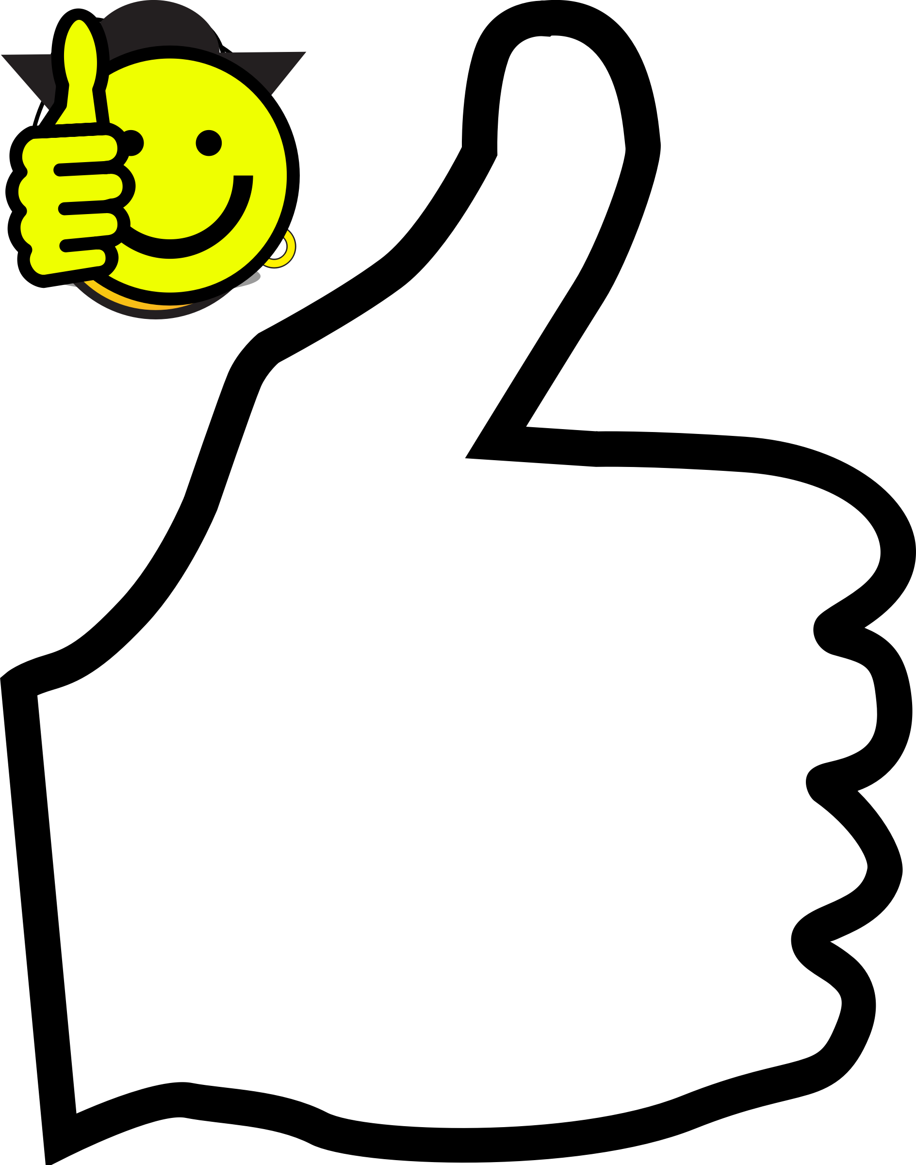 Thumbs up smiley clipart picture freeuse download Clipart - Thumb up with smiley picture freeuse download