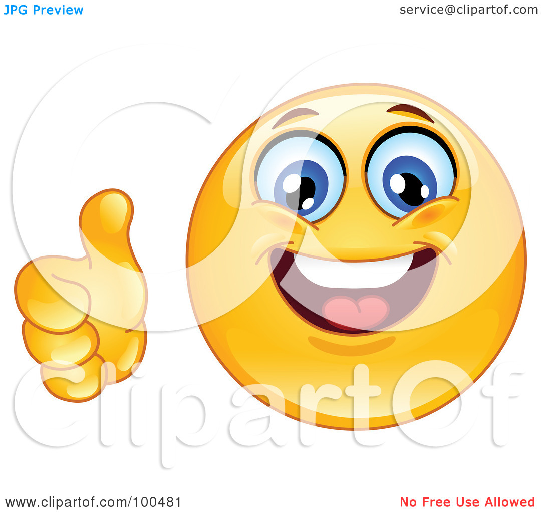Thumbs up smiley clipart banner freeuse download Royalty-Free (RF) Clipart Illustration of a Yellow Smiley Face ... banner freeuse download