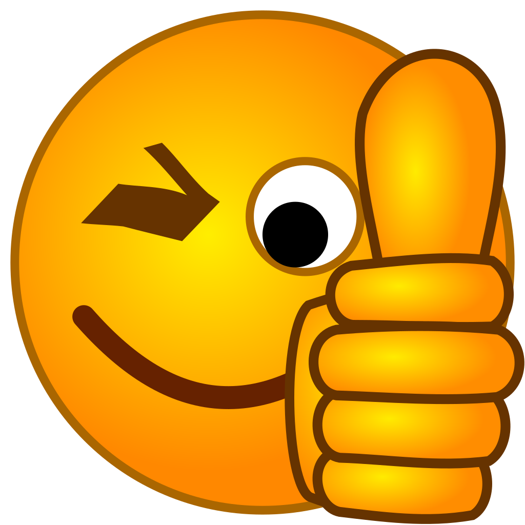 Thumbs up smiley clipart image library download File:SMirC-thumbsup.svg - Wikipedia image library download