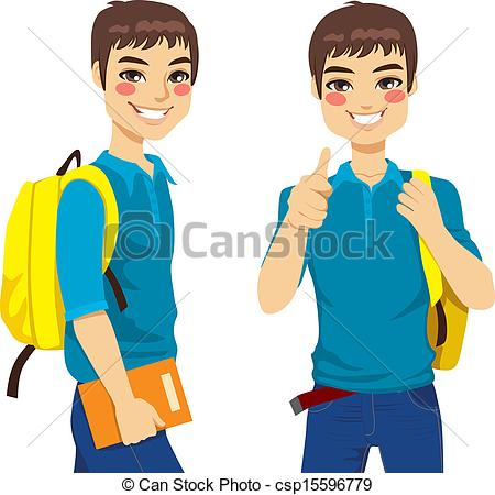 Thumbs up student clipart svg freeuse stock Vectors Illustration of Cool Teenage Student - Cool teenage ... svg freeuse stock