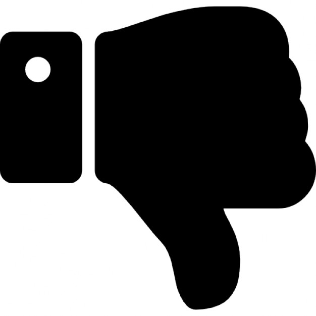 Thumbs up thumbs down black background clipart free picture transparent download Thumbs down silhouette Icons | Free Download picture transparent download