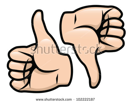 Thumbs up thumbs down clipart clipart transparent Cartoon Vector Drawing Thumbs Thumbs Down Stock Vector 102222187 ... clipart transparent