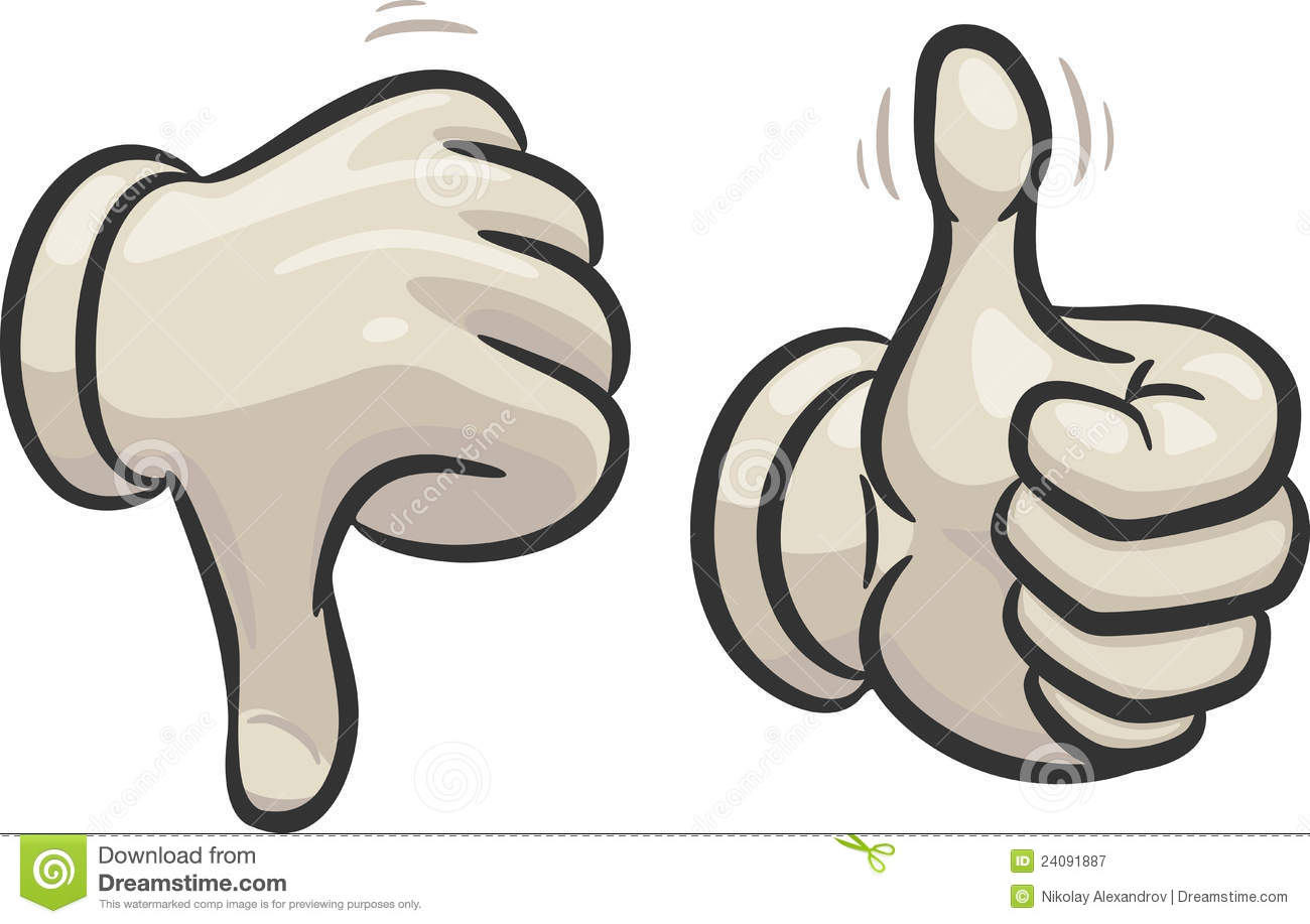 Thumbs up thumbs down clipart free vector royalty free library Thumbs Down And Up Royalty Free Stock Photography - Image: 24091887 vector royalty free library