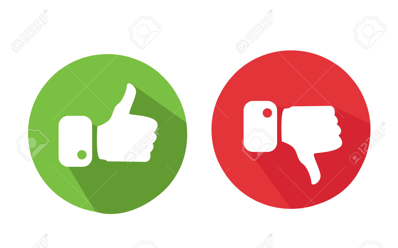 Thumbs up thumbs down clipart free image stock Modern Thumbs Up And Thumbs Down Icons Royalty Free Cliparts ... image stock