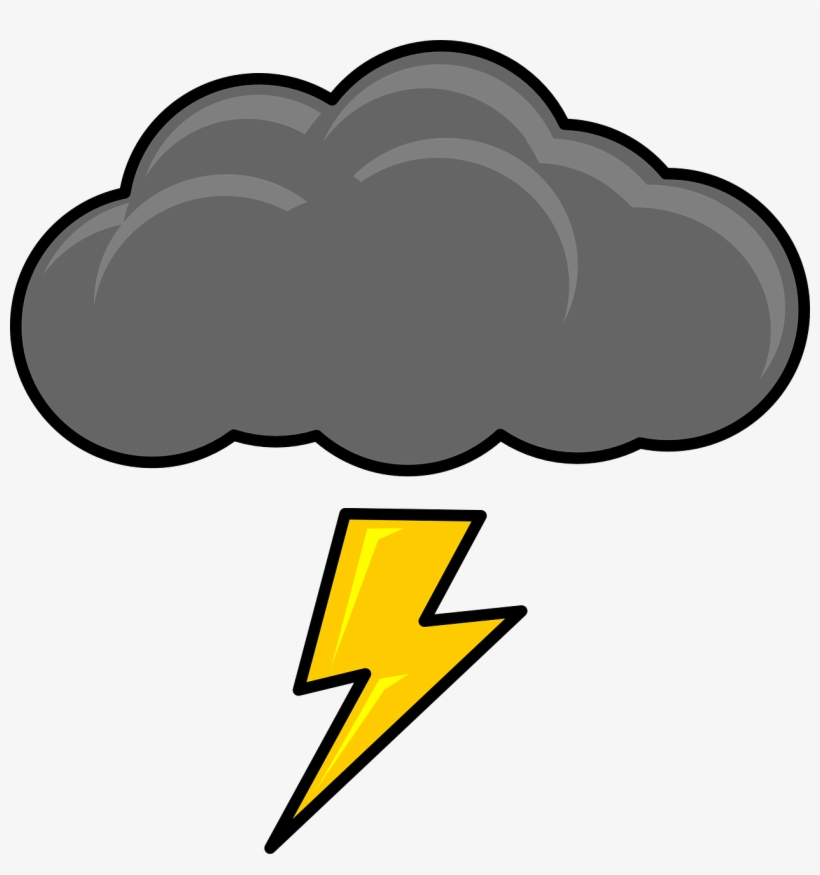 Thunder and lightning images clipart png transparent library Thunder And Lightning Clipart - Thunder Clipart - Free ... png transparent library