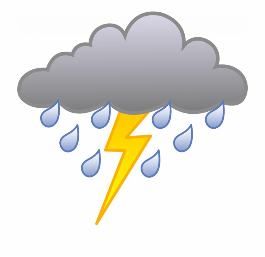 Thunder cloud pictures clipart clipart transparent download Unique Storm Clipart Rain Cloud With Lightning Bolt - Rain ... clipart transparent download