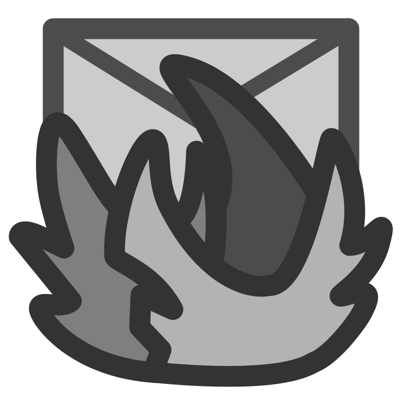 Free Clipart: Ftmozilla-thunderbird | Anonymous picture black and white