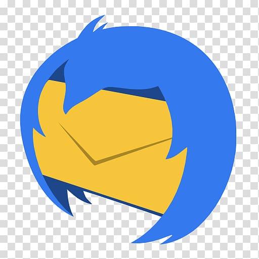 Thunderbird fire clipart svg black and white stock Mozilla Thunderbird logo, blue symbol yellow circle ... svg black and white stock