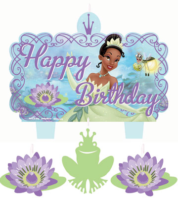 Tiana birthday clipart clip free stock Princess and the Frog Molded Birthday Candle Set clip free stock