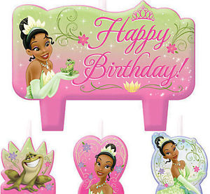 Tiana birthday clipart picture black and white library Details about TIANA Cake CANDLES Disney Princess & Frog birthday party  supplies 4 pc molded picture black and white library