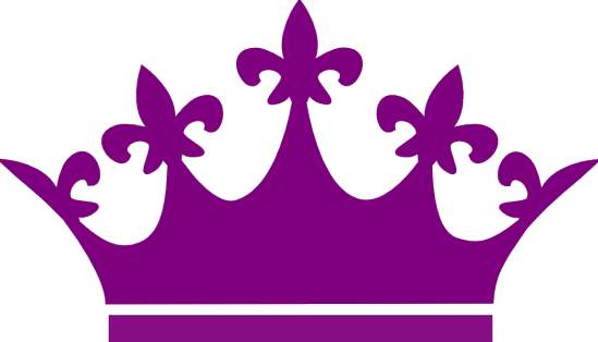 Tiara clipart black and purple