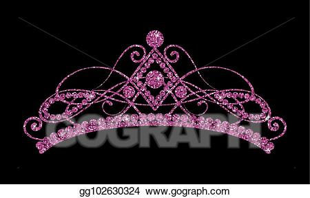 Tiara clipart black and purple clip black and white Vector Art - Glittering diadem. pink purple tiara isolated ... clip black and white