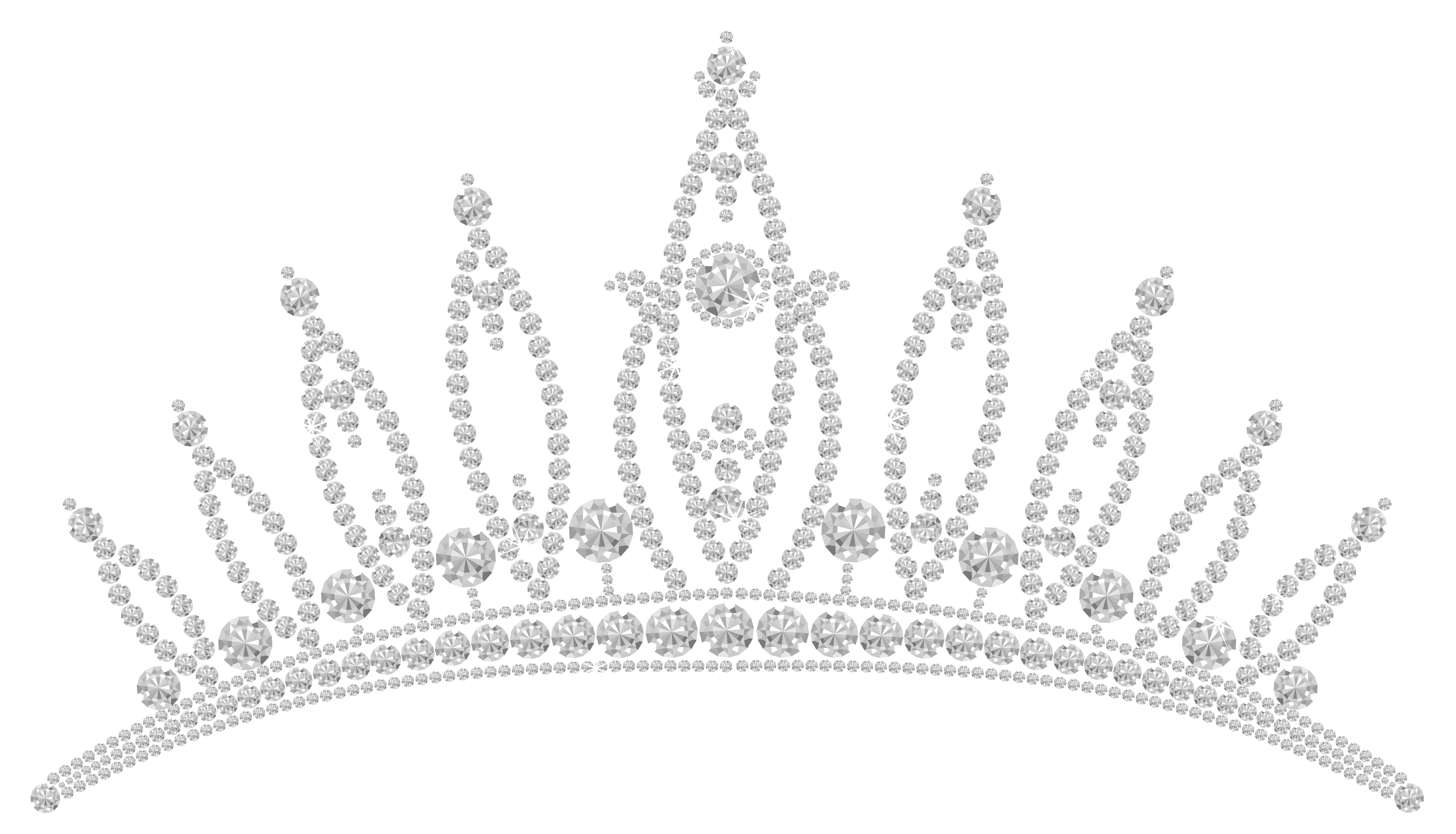 Tiara clipart transparent background png black and white library Diamond Tiara PNG Clipart Picture | Gallery Yopriceville ... png black and white library