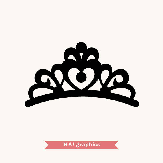 Tiara clipart vector picture free library Crown, Tiara, Princess, Queen, King, Prince, Silhouette ... picture free library