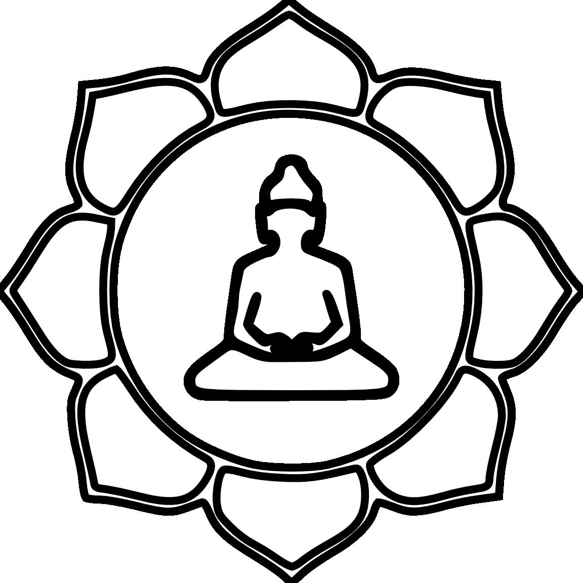 Tibetan long book clipart clip art free stock Buddha Flower Color Black White Line Art Coloring Book Colouring ... clip art free stock