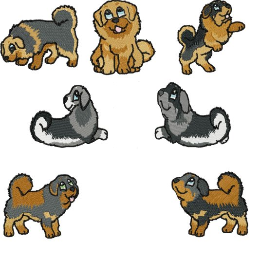 Tibetan mastiff clipart jpg transparent download Tibetan Mastiff - $20.00 : SharSations Embroidery, Your ... jpg transparent download