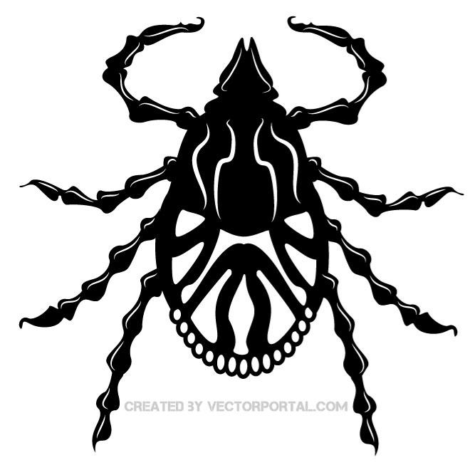 Tick bug clipart free library TICK BUG VECTOR CLIP ART - Free vector image in AI and EPS ... free library