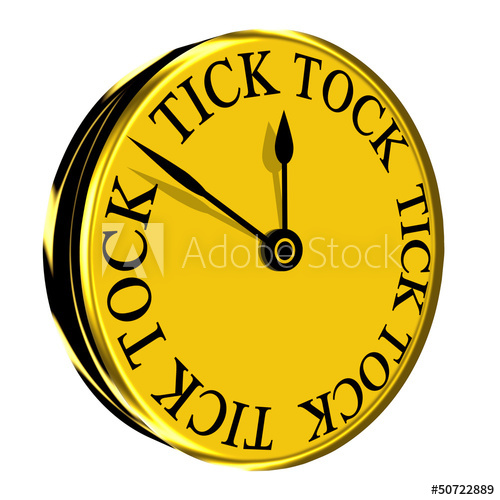 Tick tock clipart clip freeuse library Tick Tock Wall Clock - Buy this stock illustration and ... clip freeuse library