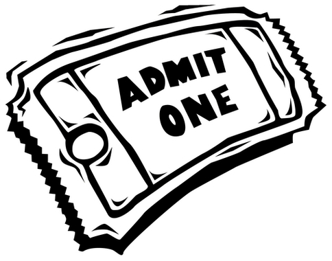 Ticket clipart black and white png stock Movie Ticket Clip Art & Look At Clip Art Images - ClipartLook png stock