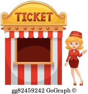 Ticket office clipart picture transparent download Ticket Booth Clip Art - Royalty Free - GoGraph picture transparent download