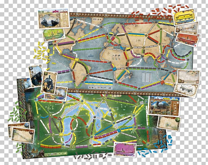 Ticket to ride game clipart download Days Of Wonder Ticket To Ride Series Board Game PNG, Clipart ... download