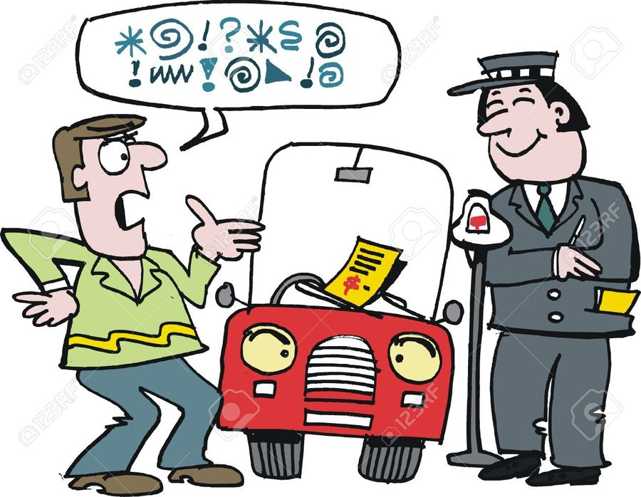 Ticket violation clipart png freeuse Download parking officer cartoon clipart Parking violation ... png freeuse