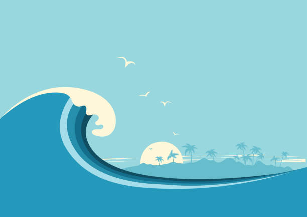 Tidal clipart vector library library Tidal Wave Clipart (103+ images in Collection) Page 1 vector library library