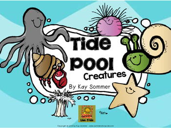 Tide pool creatures clipart black and white picture free Tide Pools Worksheets & Teaching Resources   Teachers Pay ... picture free