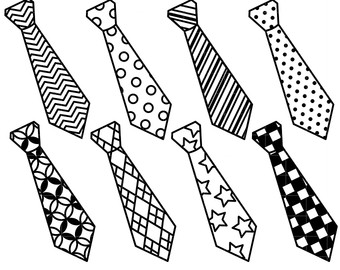 Tie black nd white clipart graphic free stock Necktie, White, Black, Line, Design, Font, Pattern, Product ... graphic free stock