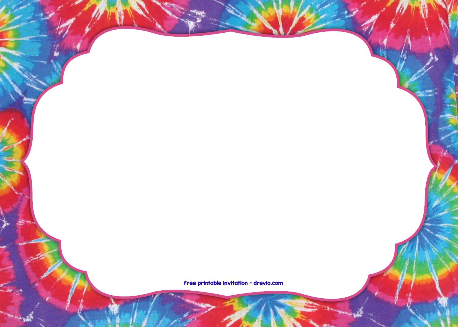 Tie dye birthday ideas & clipart on pinterest png royalty free download FREE Tie Dye Invitation... | Free Printable Birthday ... png royalty free download