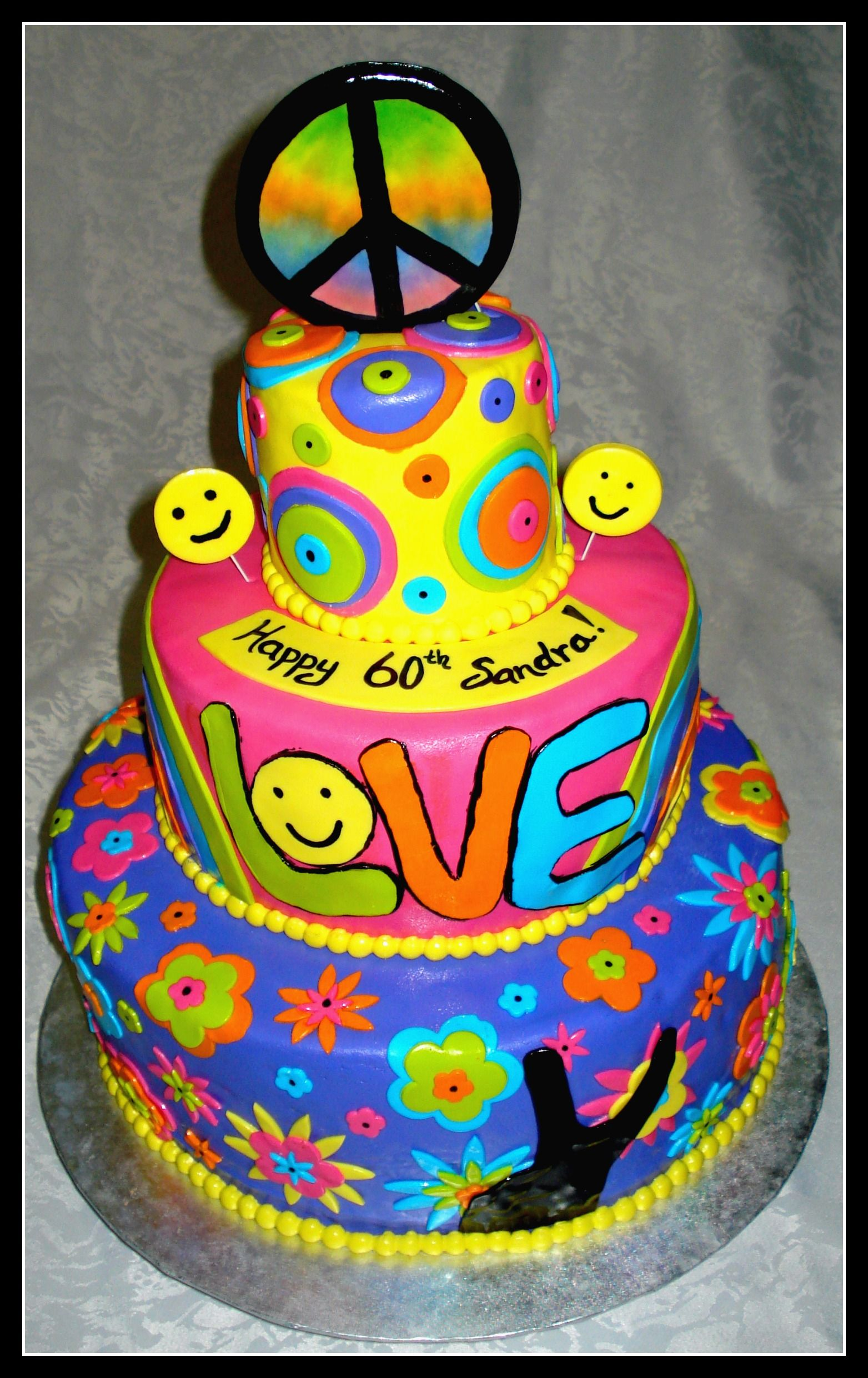 Tie dye birthday ideas & clipart on pinterest jpg black and white library Pin Hippie Cake By Vancouver Designer Picture To Pinterest ... jpg black and white library