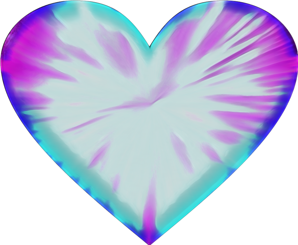 Tie dye heart clipart transparent love heart tiedye valentine transparent